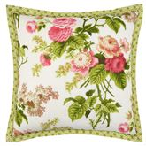 Emmas Garden Flanged Pillow White 18 Square