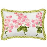 Emmas Garden Flanged Embroidered Pillow White Rectangle