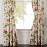 Emmas Garden Wide Tailored Curtain Pair White 100 x 84