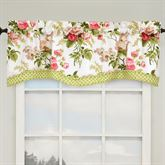 Emmas Garden Shaped Valance White 52 x 18