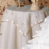 La Fleur Tailored Square Tablecloth  36 Square
