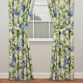 Floral Flourish Wide Tailored Curtain Pair Light Almond 100 x 84