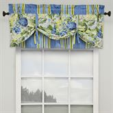 Floral Flourish Tie Up Valance Light Almond 52 x 21