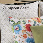 Sabrina Piped Sham White European