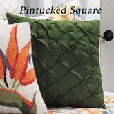 Sabrina Pintucked Pillow Dark Green 18 Square