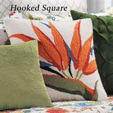 Sabrina Hooked Pillow White 18 Square