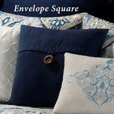 Nazima Envelope Pillow Navy Blue 18 Square