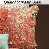 Adele Quilted Sham Rust Standard