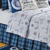 Fair Winds Tartan Plaid Bedskirt Blue