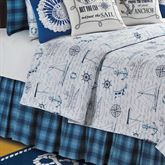Fair Winds Tartan Plaid Bedskirt Blue