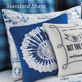 Fair Winds Quilted Sham White Standard