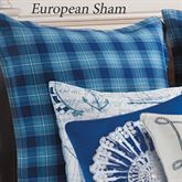 Fair Winds Tartan Plaid Sham Blue European