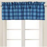 Fair Winds Tartan Plaid Tailored Valance Blue 80 x 15
