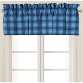 Fair Winds Tartan Plaid Tailored Valance Blue 80 x 15
