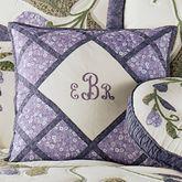 Wisteria Garden Piped Square Pillow Light Cream 18 Square