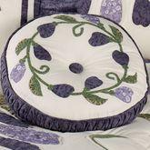 Wisteria Garden Piped Round Pillow Light Cream Round