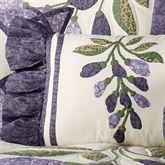 Wisteria Garden Rectangle Pillow Light Cream Rectangle