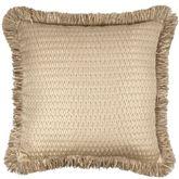Prosper Fringed Pillow Beige 20 Square