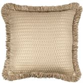 Prosper Fringed Pillow Beige 20 Square