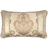 Prosper Damask Corded Pillow Beige Rectangle