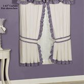 Serenade Ruffled Curtain Pair Wisteria 84 x 84