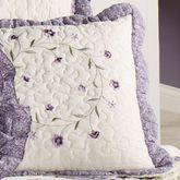 Serenade Scalloped Square Pillow Wisteria 16 Square