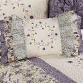 Serenade Ruffled Rectangle Pillow Wisteria Rectangle