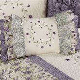 Serenade Ruffled Rectangle Pillow Wisteria Rectangle