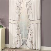 Vintage Bloom Tailored Curtain Pair Pearl 84 x 84