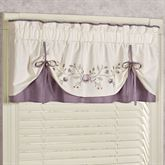 Vintage Bloom Layered Valance Pearl 60 x 18