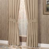 Evermore Almond Tailored Curtain PairAlmond88 x 84