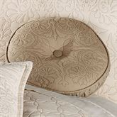 Evermore Almond Tufted Round PillowAlmond14 Round