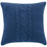 Randolph Tailored Knit Pillow Steel Blue 18 Square