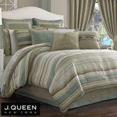 Newport Stripe Comforter Set Multi Warm
