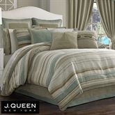 Newport Stripe Comforter Set Multi Warm