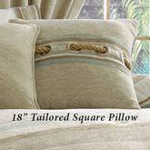 Newport Stripe Tailored Pillow Multi Warm 18 Square
