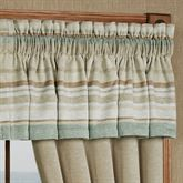Newport Stripe Tailored Valance Multi Warm 88 x 17