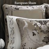 Alessandra Piped Sham Smoke Gray European