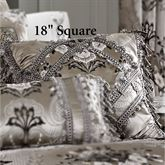 Alessandra Tassel Tailored Pillow Smoke Gray 18 Square