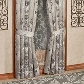 Alessandra Wide Tailored Curtain Pair Smoke Gray 100 x 84