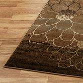 Flower Outline Rug Runner Brown 110 x 76
