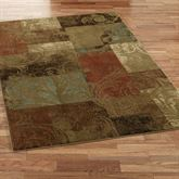 Magnificent Scroll Rectangle Rug Brown
