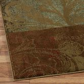 Magnificent Scroll Rug Runner Brown 110 x 76