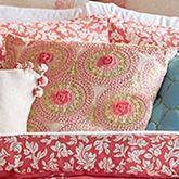 Amrita Medallion Embroidered Pillow Multi Jewel 16 Square