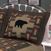 Bear Trail Quilted Sham Multi Warm Standard
