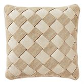 Camille Piped Pillow Ecru 16 Square