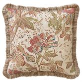 Camille Fringed Pillow Ecru 18 Square