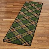 Christmas Plaid Rug Runner 21 x 78