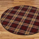 Christmas Plaid Round Rug 54 Round