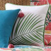 Coco Paradise Embroidered Pillow Multi Bright 16 Square